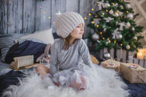 Jeune Fille, Cadeau, Présente, Noël, Enfants, Vacances